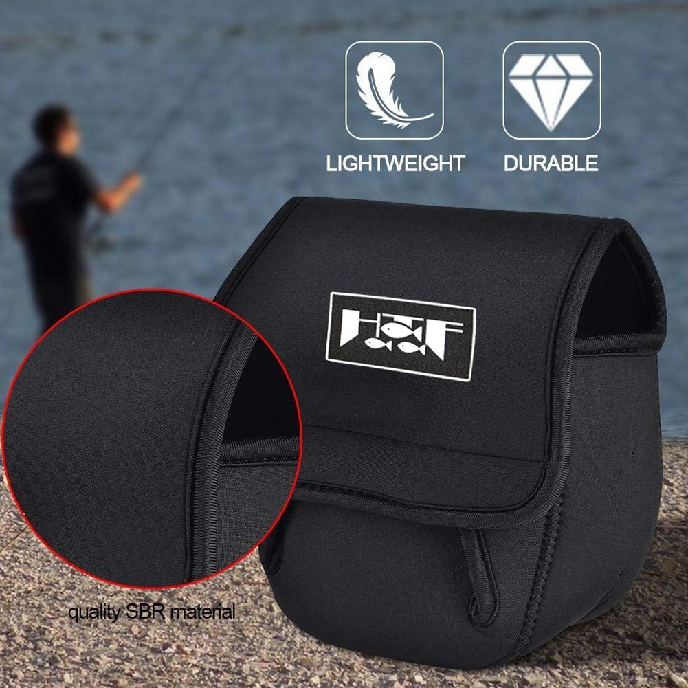 Fishing Reel Cover Bag Protective Baitcasting Trolling Pouch Case