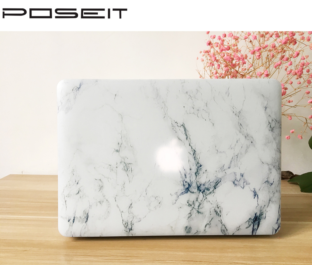 POSEIT Marble Hard Painting Case for Macbook Air Pro 11 12 13 15 Retina Colors Touch Matte Wood Laptop Cover Protect Shell in Laptop Bags Cases from Computer Office