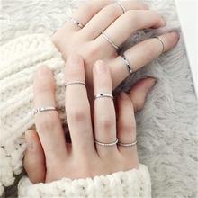 Zn 10 шт/партия классические кольца набор модные ювелирные изделия