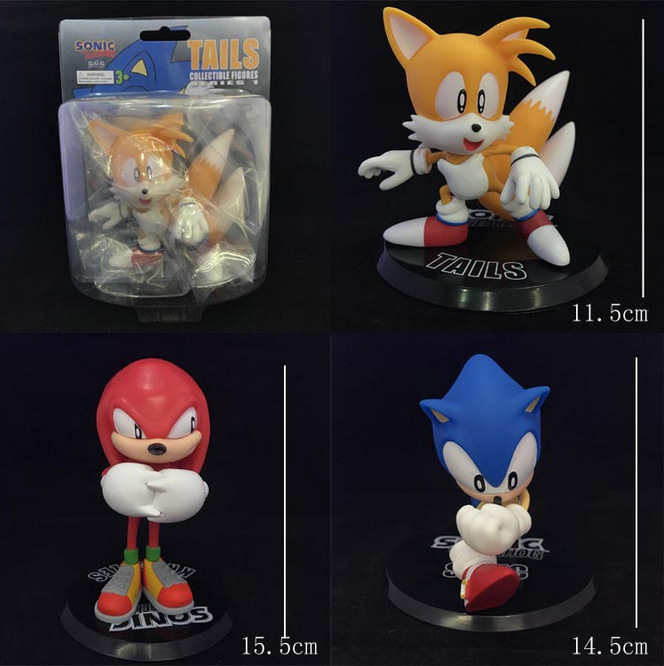NEW hot 11-16cm 3pcs/set Sonic The Hedgehog Miles Prower Knuckles collectors action figure toys Christmas gift doll with box матрас konkord classic comfort 120x195x18