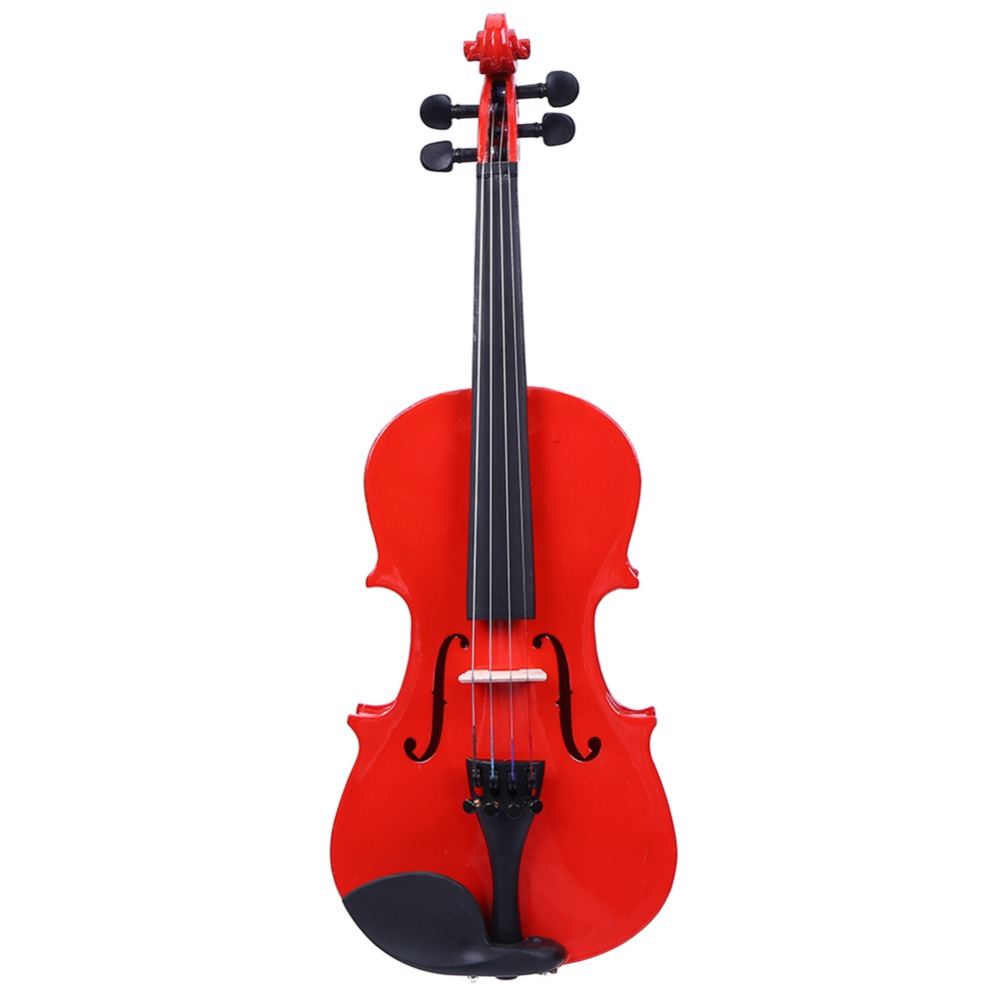 Handmade 1 8 Size Violin Natural Acoustic Wood Maple Veneer Violin Musical Fiddle with Case Rosin