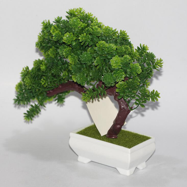new plastic artificial tree plants landscape flower bonsai trees pot