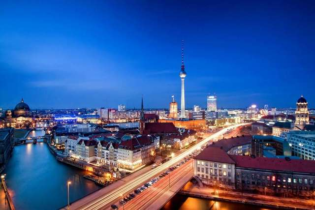 HD stampe su tela Moderna alexanderplatz berlino capitale della ...