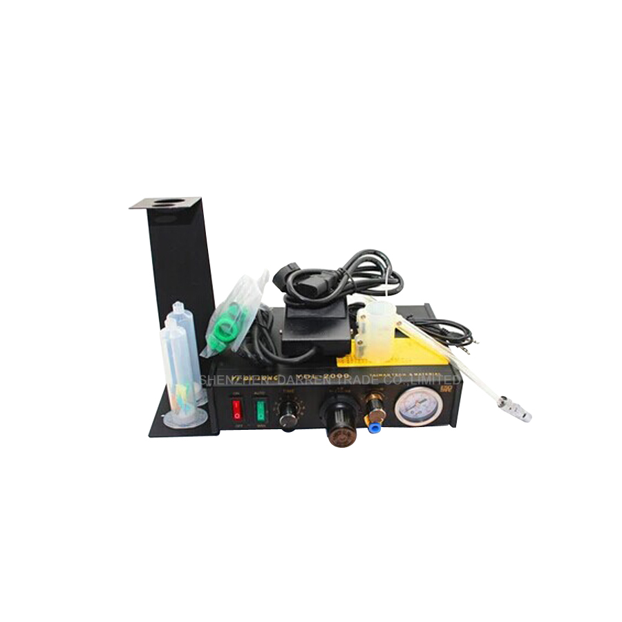 1PCS YDL-2000 Semi-automatic Glue Dispenser AB UV Glue Dispenser Solder Paste Liquid Controller for SMD PCB feita ft 982 semi automatic liquid glue dispensing dispenser machine with manual operation and foot pedal