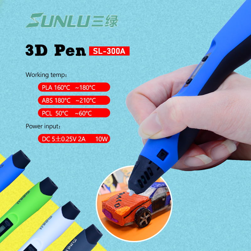 Low temperature 3D printing pen SL-300A Intelligent PLA/ABS/PCL 3D Drawing Pen DIY Painting toys drawing giftLow temperature 3D printing pen SL-300A Intelligent PLA/ABS/PCL 3D Drawing Pen DIY Painting toys drawing gift
