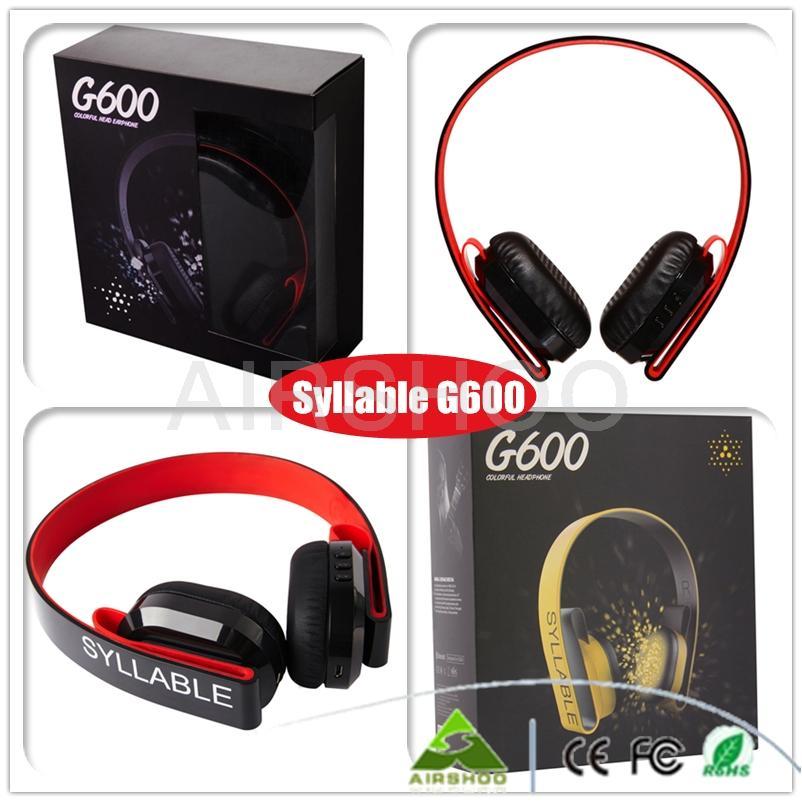 ФОТО 3PCS/Lot Syllable G600 Wireless Stereo Bluetooth Earphone 4.0 HIFI 3.5mm Headset For iPhone iPad Samsung Laptop PC Tablet