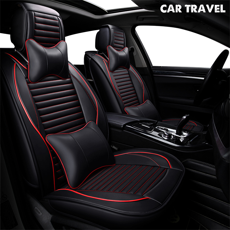 Чехол для автомобиля из искусственной кожи для nissan almera seat toledo 2 renault sandero latitude kia rio 2018 авто аксессуары для автомобиля-Стайлинг