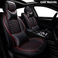 pu Leather car seat cover For nissan almera seat toledo 2 renault sandero latitude kia rio 2018 auto accessories car styling