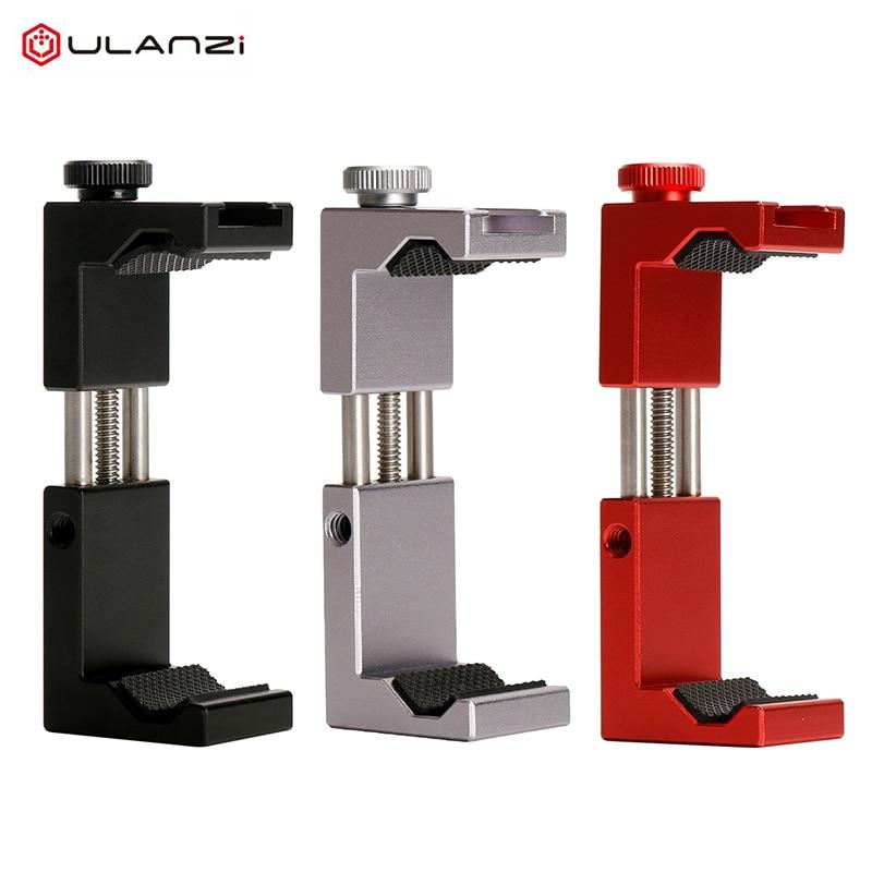 Ulanzi Metal Phone Tripod Clip Iron Man ST-02S Aluminium Smartphone Mount Stand Adapter Vertical Shooting for Smart