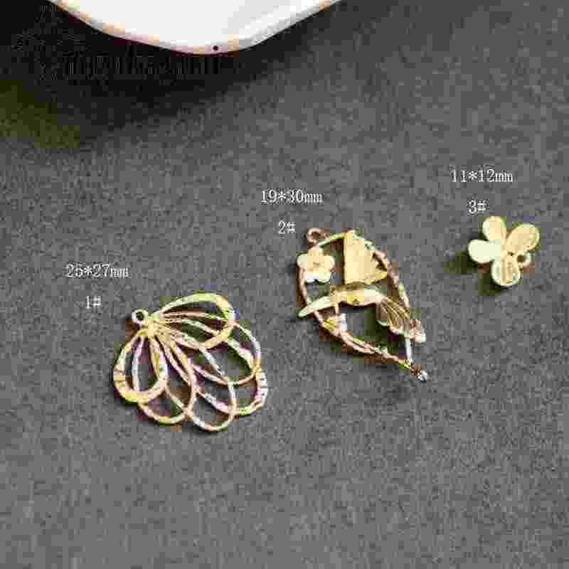 Đồng Thực Vàng Mạ Giấy Cần Trục Bướm Hươu Quyến Rũ 10 cái/lốc Cho DIY Thời Trang Phụ Kiện Trang Sức