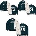 KPOP got7 Wang Jiaer mark in same baseball uniform coat wool fleece who da clothes