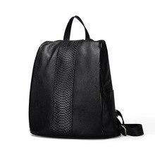 Womens new casual leather vertical shoulder bag Multifunctional crocodile Messenger