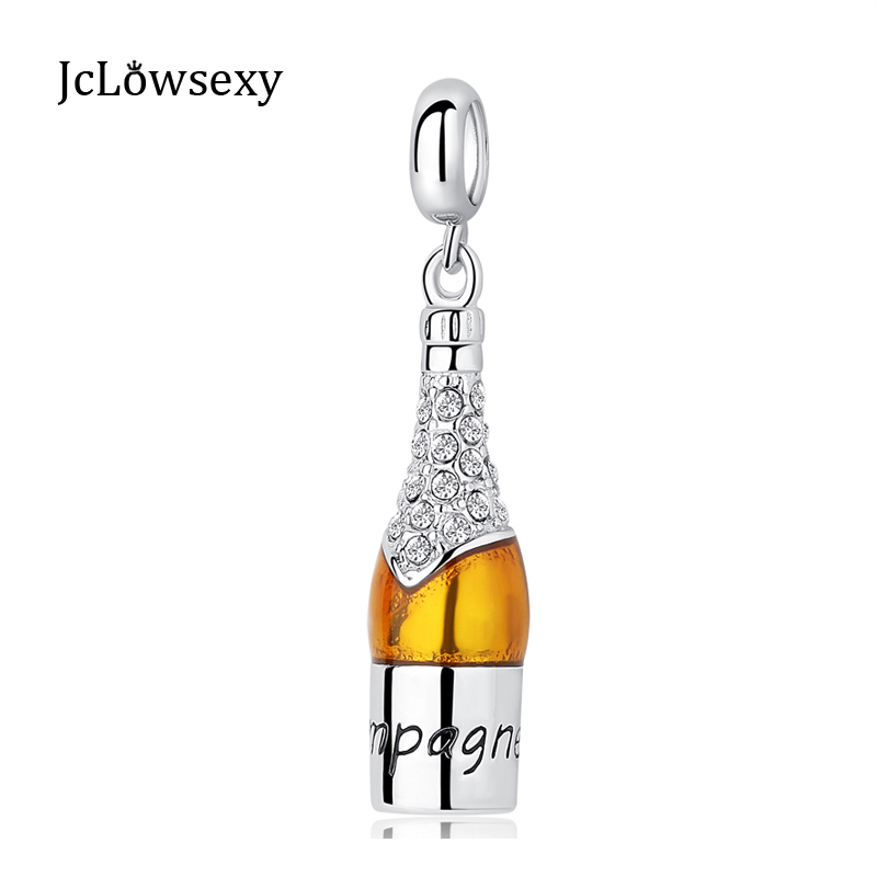 b409a385d Original Authentic 925 Sterling Silver Bead Charm Champagne Celebration  Time Dangle Charms Fit Pandora Bracelets DIY Jewelry