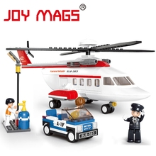 JOY MAGS Airbus New Military Helicopter Model Airplane Building Blocks Sets City Airport Bricks Toys Compatible With Aircraft