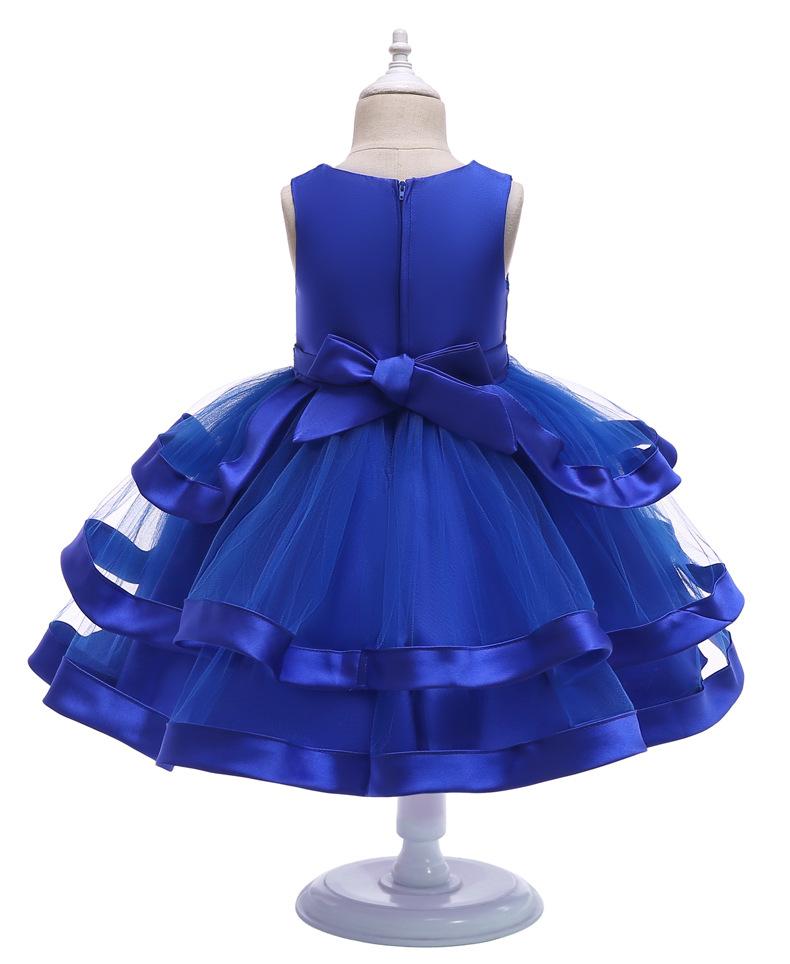 2019 Girls Dress Unicorn Party Children Princess Dress Fluffy New Year Dress Girls Christmas Costume Kids Dress Sleeveless Vest 4