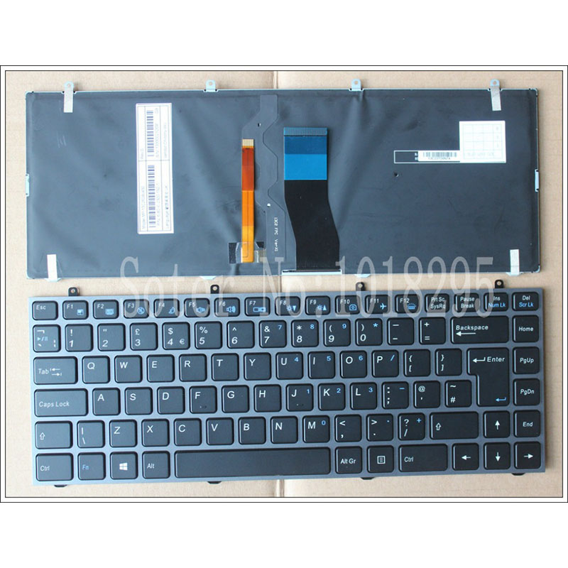 NEW UK Keyboard for Hasee K350C K350S For Clevo W230ST W230SS W230SD black UK laptop keyboard MP-13C26GBJ430 new gr keyboard for hasee k350c k350s for clevo w230st w230ss w230sd black german laptop keyboard mp 13c26d0j430
