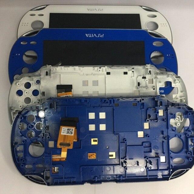 파란색과 흰색 원래 새로운 wifh 프레임 ps vita psvita psv 1 1000 100x lcd 디스플레이 터치 스크린 디지털 조립