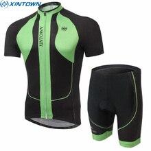 XINTOWN Mens Ropa Ciclismo Short Sleeve Ropa Ciclismo Cycling Jersey Outdoor Top Shirt Bicycle Bib Sports Bib Shorts Set