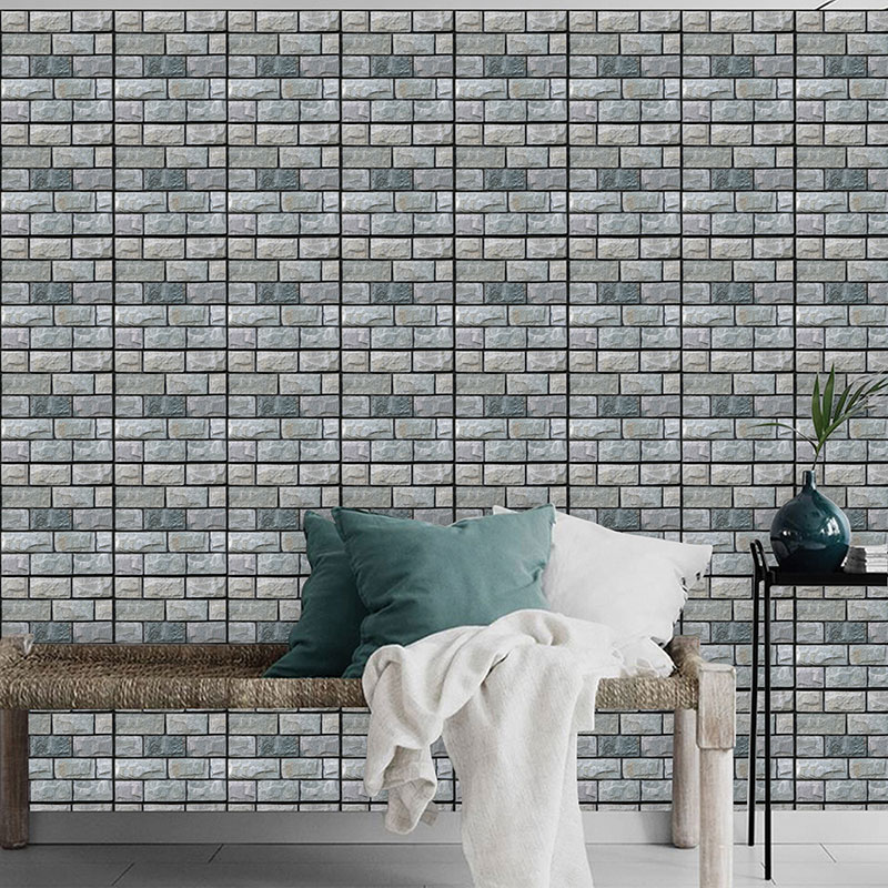 30x30cm PVC 3D Wall Stickers Safty Home Decor Wallpaper DIY Wall Decor Brick Living Room Kids Bedroom Decorative Sticker