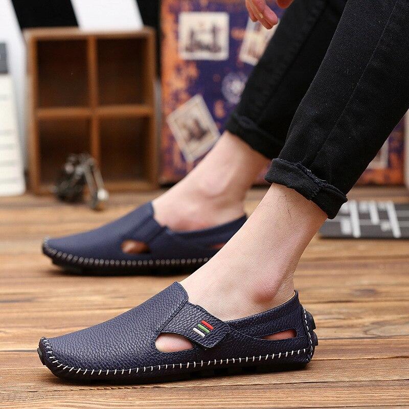 Hommes Plates Mode 1 3 4 Homme En Occasionnel Conduite Chaussures 6 2 De  Cuir Mocassins ... 2e0737d2489