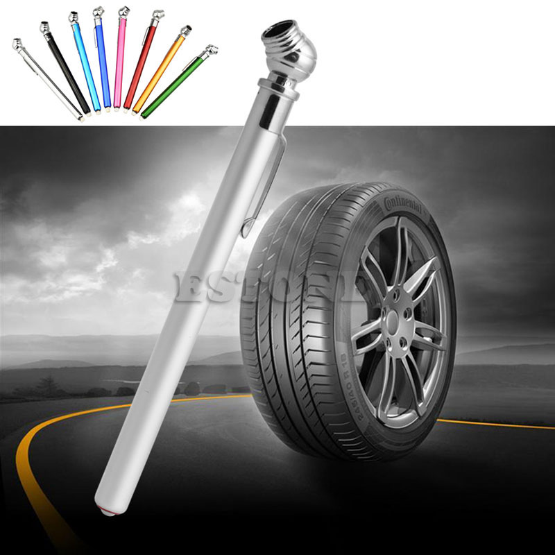 QILEJVS Hot Selling 5-50LBS Auto Vehicle Car Motor Tyre Tire Air Pressure Test Meter Gauge Pen jul17