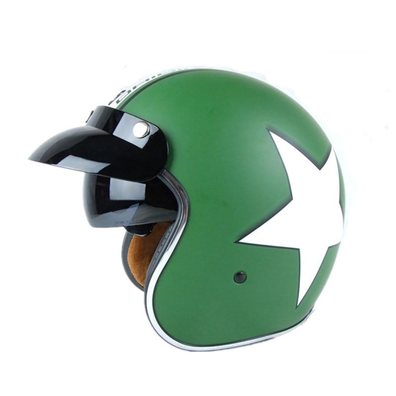 New arrival brand TORC motorcycle helmet vintage scooter helmet lucky star open face helmet 3/4 helmet moto cascos ECE approved