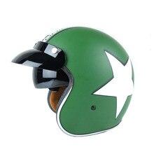 Новое поступление марка гривна шлем скутер шлем счастливая звезда открытый шлем 3/4 шлем мото cascos еэк утверждено