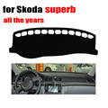 car dashboard cover For skoda superb all the years car dashboard accessories left hand drive dashmat pad dash covers
