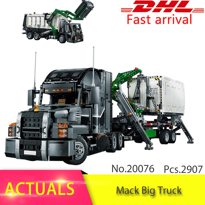 Lepin 20076 Genuine 2907Pcs Technic Series The Mack Big Truck Set 42078 Building Blocks Bricks Educational Toys For Children lepin 20076 technic series the mack big