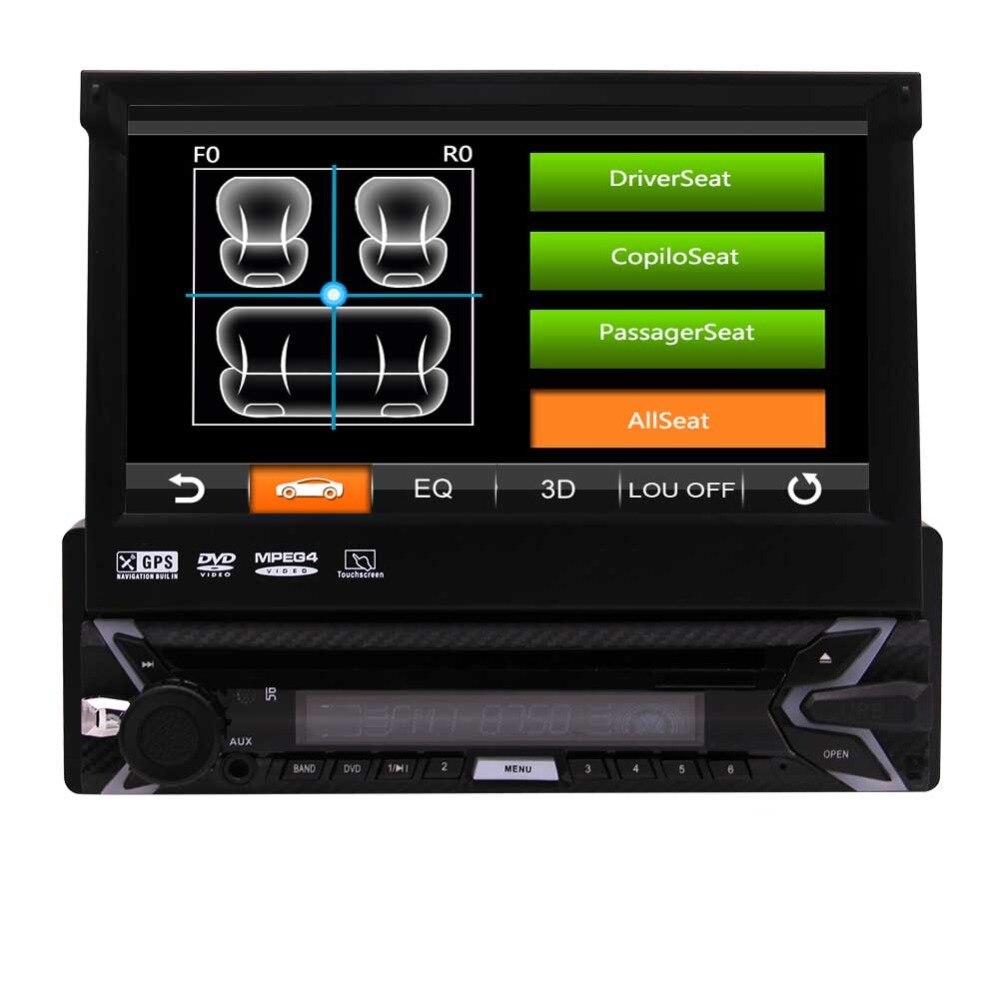 1 Din dans Dash voiture stéréo électronique pièces automobiles Radio Autoradio GPS unité de tête carte SD carte 7 pouces écran tactile capacitif