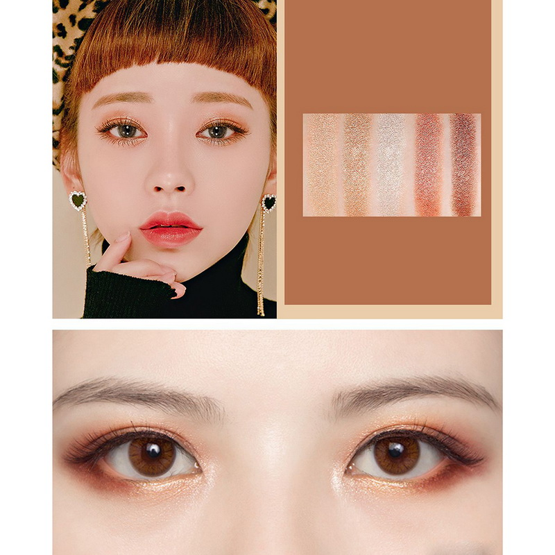 NOVO Korean Style Eyeshadow Palette Milk Tea Color Makeup 5 Colors Pressed Eye Shadow Make Up Palette Beauty Women Cosmetics