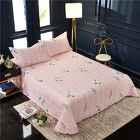 Famvotar Elegant 3 pieces Quilted Coverlet Bedspread Set With Sham All season Bedspread wih White Striped & Plant/Flower Pattern