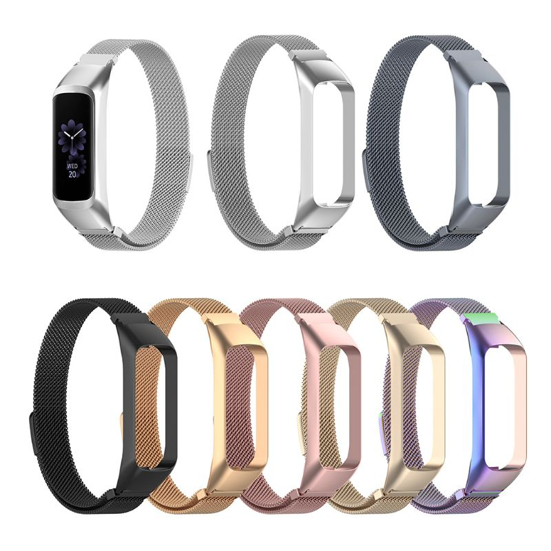 Smart Watch Band Fit e Wrist Band Stainless Steel Replacement Magnetic Strap for Samsung Galaxy Fit-e Smart Band Accessories