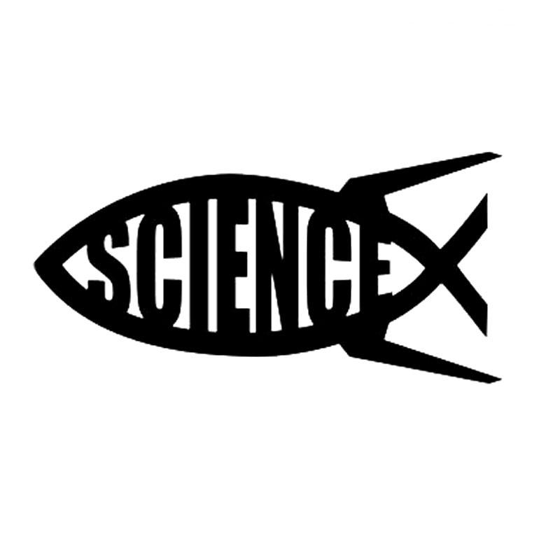19.6CM*9.8CM Science Jesus Fish Evolution Vinyl Decal God Darwin Big Bang Religion Reflective Car Sticker Black Sliver C8-0958 alister e mcgrath science and religion a new introduction