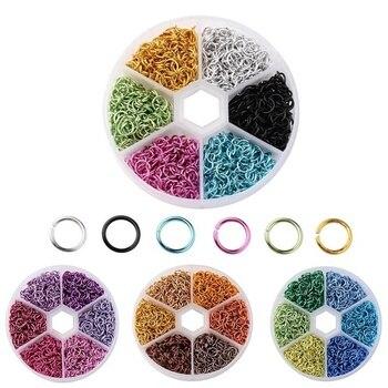 1080 sztuk/pudło mieszane kolory 6mm aluminium otwarta skok pierścień dzielone pierścienie dla DIY tworzenia biżuterii znalezienie rękodzieło akcesoria złącze