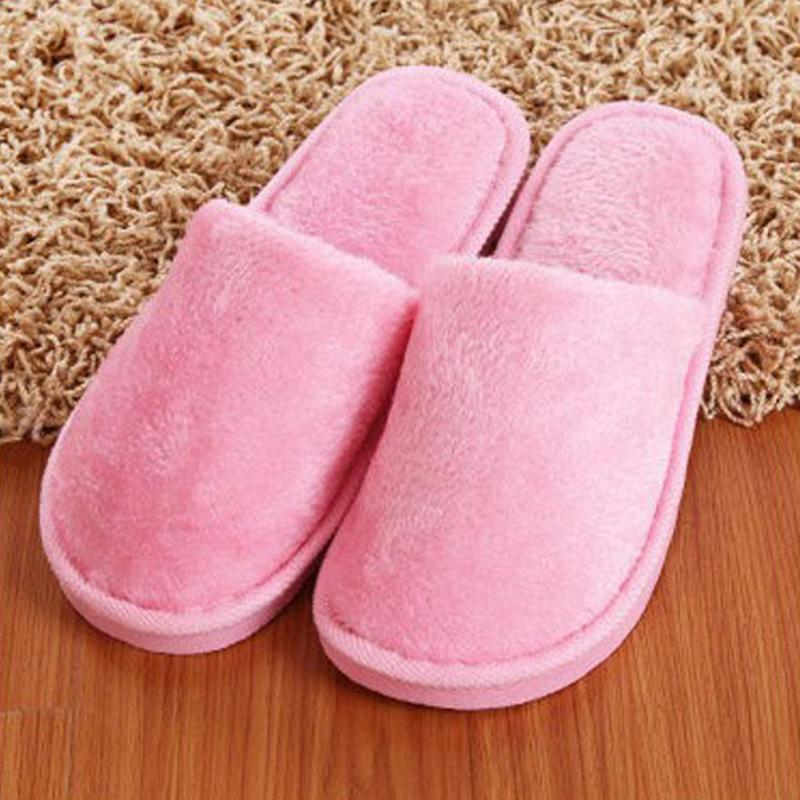 Soft Plush Cotton Cute Slippers Shoes Non-Slip Floor ,Indoor House  Home Furry Slippers Women Shoes For Bedroom