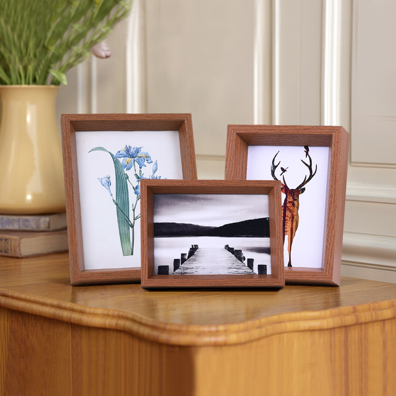 7 Inch Wooden Photo Frame Modern Style Creative Table Decor Natural Wood Wedding Home Decoration 4 Color Size In From Garden On