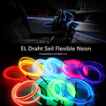 1M 2M 3M 4M 5M EL Wire Rohr Seil auto 12V Powered Flexible Neon Kaltes Auto Party Hochzeitsdekor Mit Controller