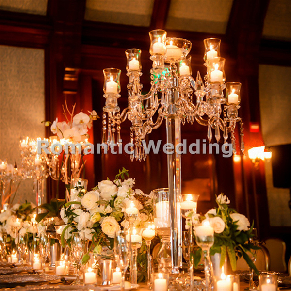 Free shipment 2pcslots 9 arms hurricane crystal wedding candelabra free shipment 2pcslots 9 arms hurricane crystal wedding candelabra centerpiece for wedding decorations event junglespirit Gallery