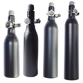 Бесплатная доставка HPA бак 4500PSI бутылка алюминиевый цилиндр для стрельбы пожарный аквариум 0,2/0,26/0,35/0.45L 5/8-18UNF TKU263545