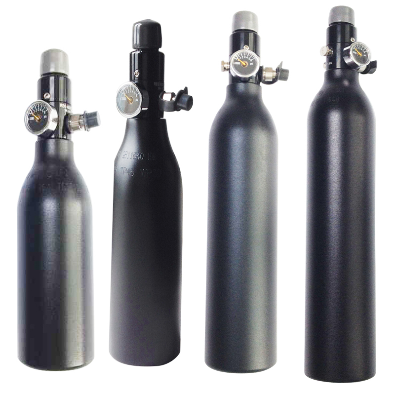 FREE SHIP HPA Tank 4500PSI Bottle Aluminium Cylinder For Shooting Fire Fighting Aquarium 0.2/0.26/0.35/0.45L 5/8-18UNF TKU263545