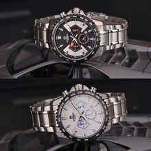 CASIMA Casual Men Wrist Watch Back Light Stainless  Steel Watch band mens watches top brand luxury Male Quartz Clock men watch