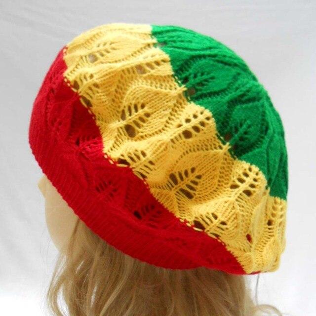 Rasta Tam Beret sombrero de punto de ganchillo reggae Marley Jamaica ...