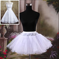 Brand New Short Petticoats White Hoopless Wedding Accessories Crinoline 3 Layers Lady Girls Stock Formal Bridal Underskirt