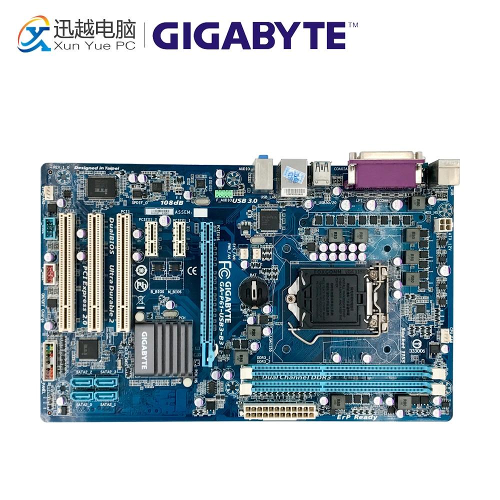 Gigabyte GA-P61-USB3-B3 Desktop Motherboard P61-USB3-B3 H61 LGA 1155 i3 i5 i7 DDR3 16G ATX