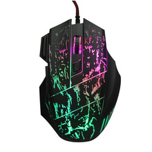 7 Buttons 5500DPI USB Gaming Mouse with 7 Colors LED Breathing Light Optical Wired Game Mice Computer Mouse for Gamer MX01