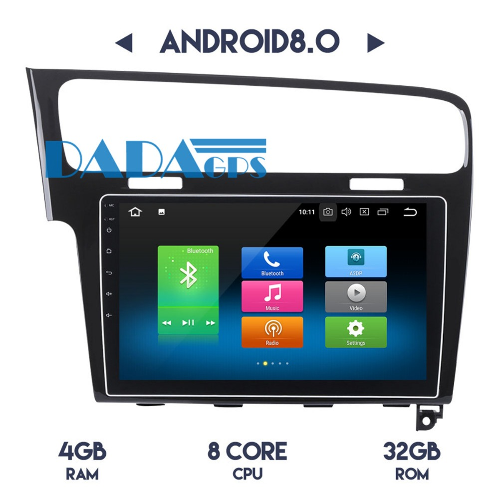 10.2 inch Android 8.0 Car Radio DVD Player GPS Navigation For Volkswagen VW GOLF 7 2013 2014 2015 2016 2017 Car Stereo Audio GPS