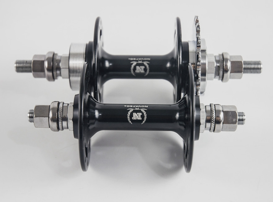 ФОТО Novatec A165/A166SBT Fixed gear Flop-flip track bike hubs 20/24,32/32 holes front rear black single speed bicycle alloy axle