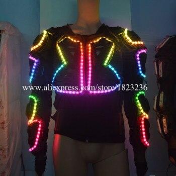Moda Led chaqueta colorida luminosa traje de salón de baile ropa para escenario actuación accesorios fiesta Show