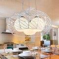 Светодиодная креативная люстра  современный минималистичный светильник для столовой  спальни  романтическая лампа для гостиной  FG446
